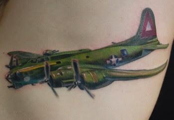 Bomber Plane Tatttoo