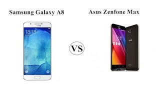 Perbandingan Spesifikasi dan Harga Samsung Galaxy A8 vs Asus Zenfone Max