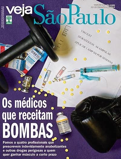 Capa da edição da VEJA São Paulo que denuncia os médicos que receitam bombas. Foto: Reprodução