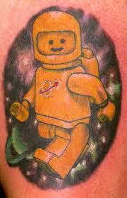 Classic Lego Geek Tattoo