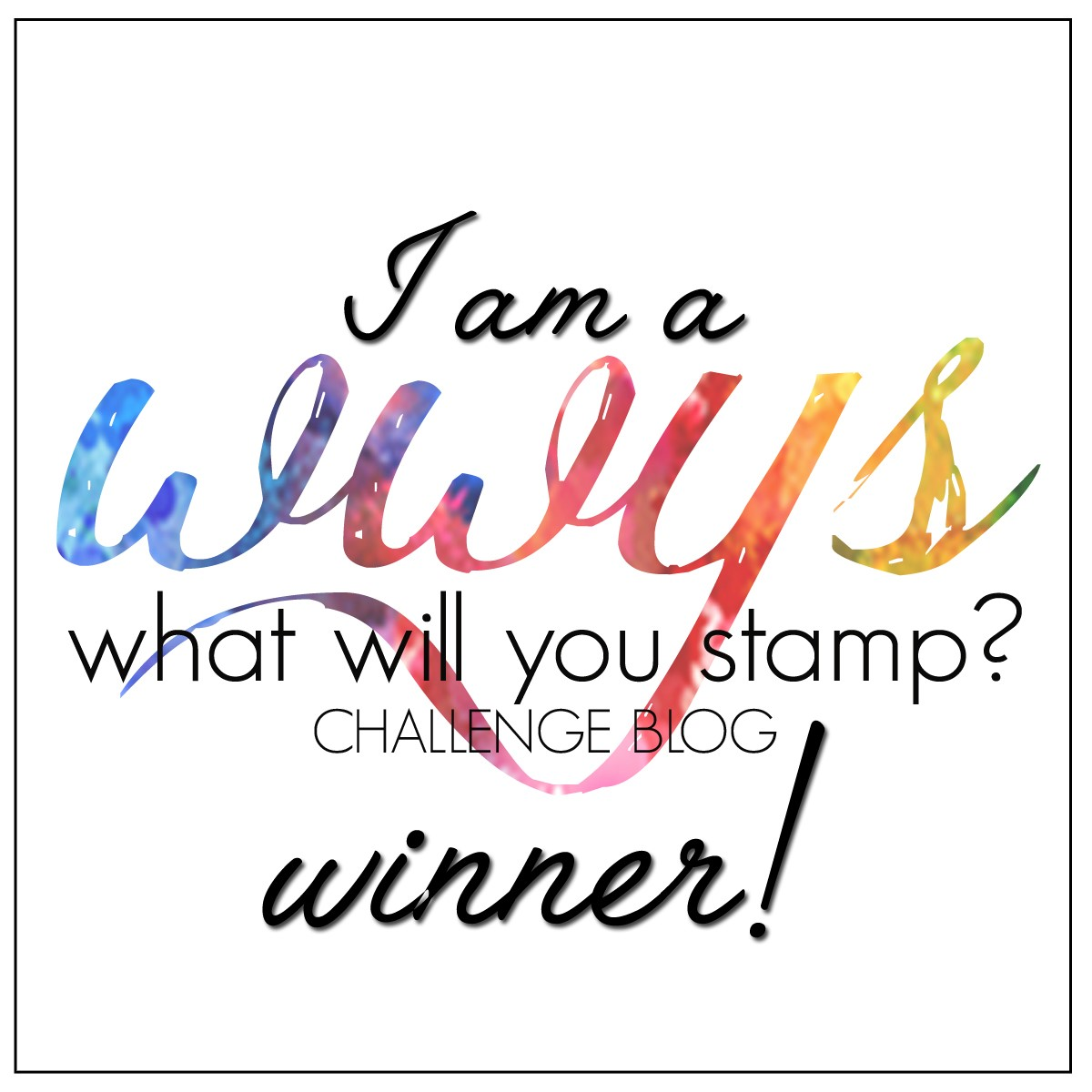 WWYS Winner Challenge #106