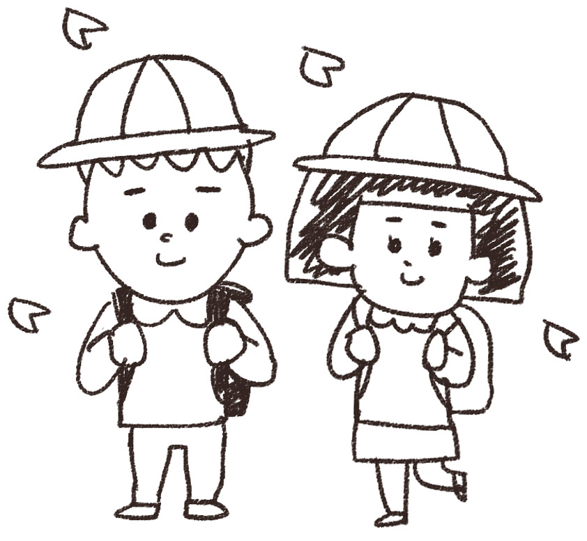 ... 小学生一年生のイラストです : 暑中見舞い 小学生 : 小学生