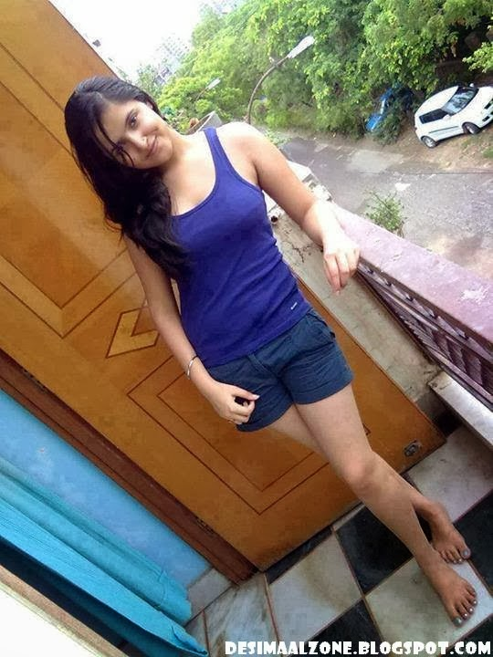 Hot Indian In Shorts Bathing