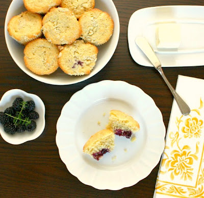 APPLE A DAY: Meatless Monday--Blackberry, Lemon, and Thyme Muffins