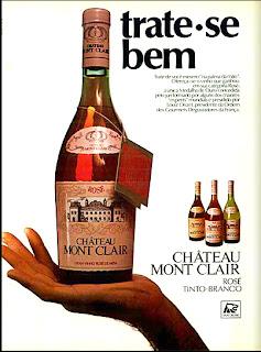 propaganda vinhos Chateau Mont Clair - 1977