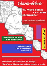 """Charla-debate de Pedro Montes: """"El pacto social y la crisis económica"""""""