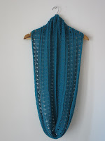 simple lace cowl scarf knitting pattern