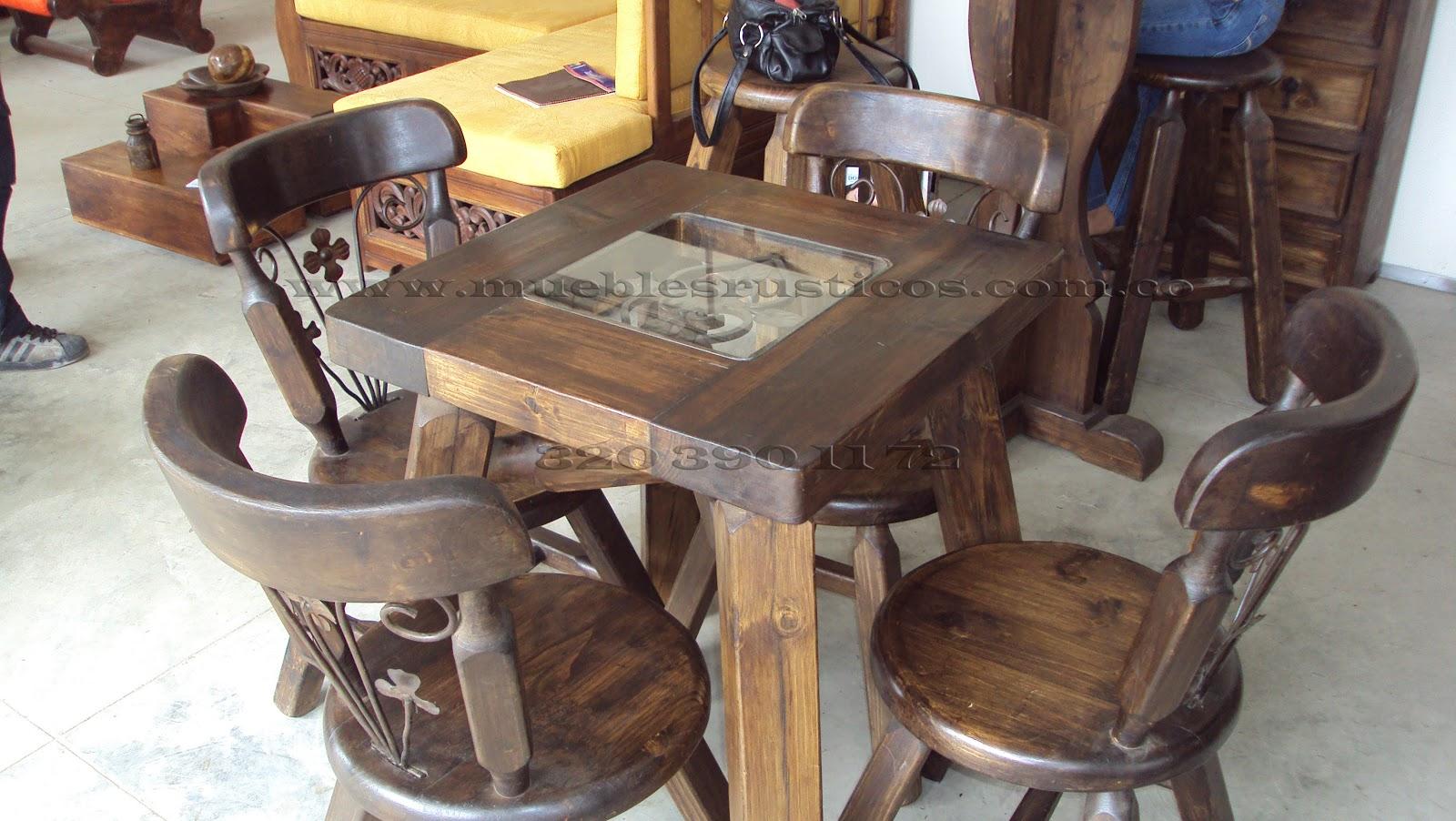 Muebles rusticos bogota comedor rustico en madera for Zapateros en madera bogota