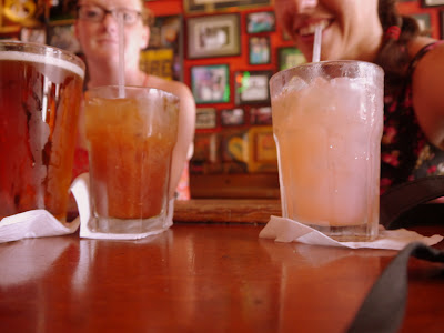 Refreshing beverages at the Erin Rose on a hot June day in NOLA