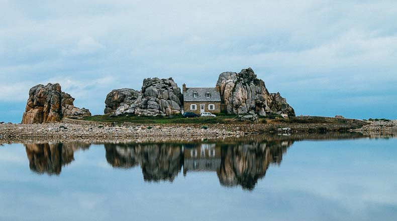 Castle Meur, una casa entre las rocas