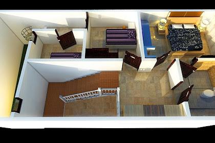Jasa Gambar Denah 3D Rendering Interior Rumah