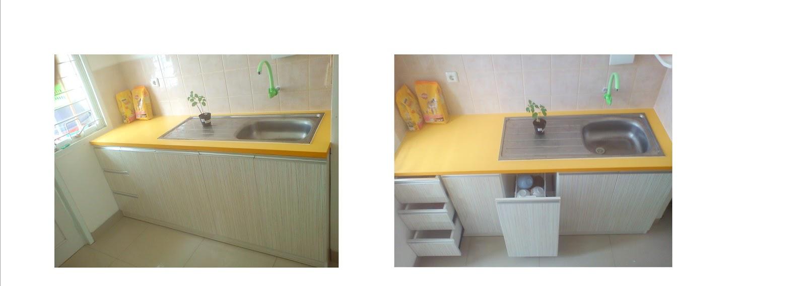 Furniture interior harga terjangkau kitchen set type for Harga kitchen set stainless
