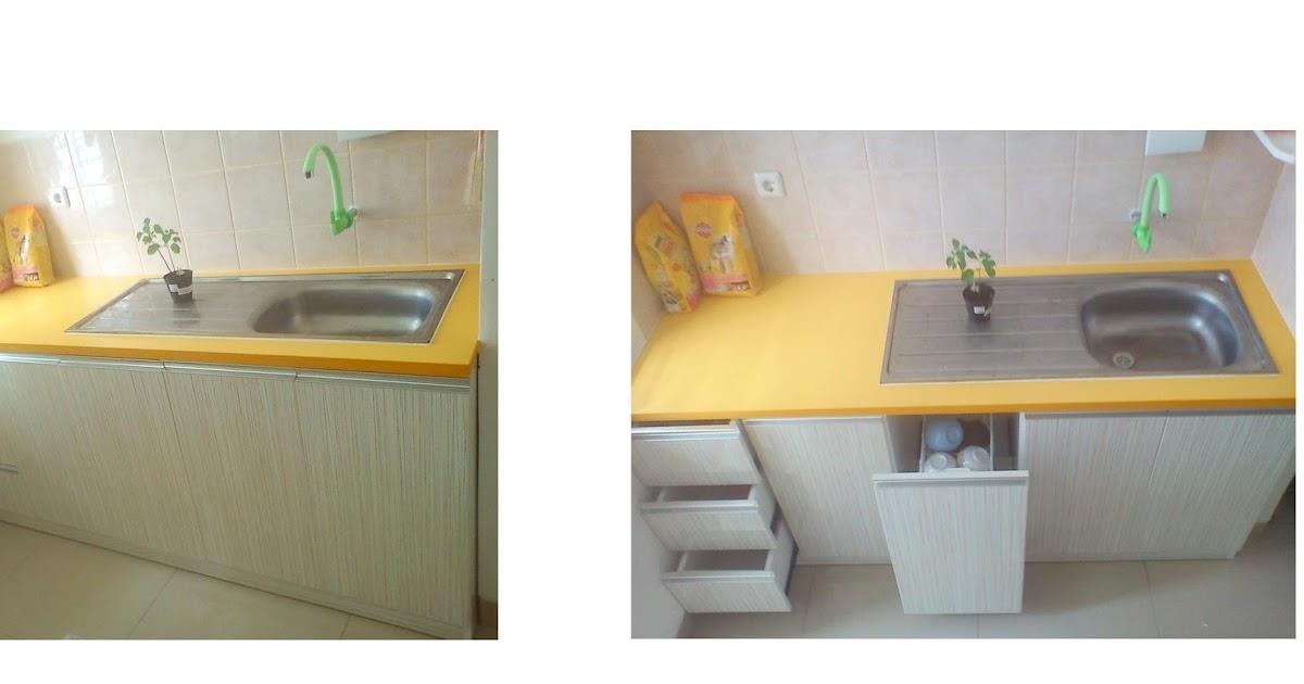 Furniture interior harga terjangkau kitchen set type for Kitchen set lurus