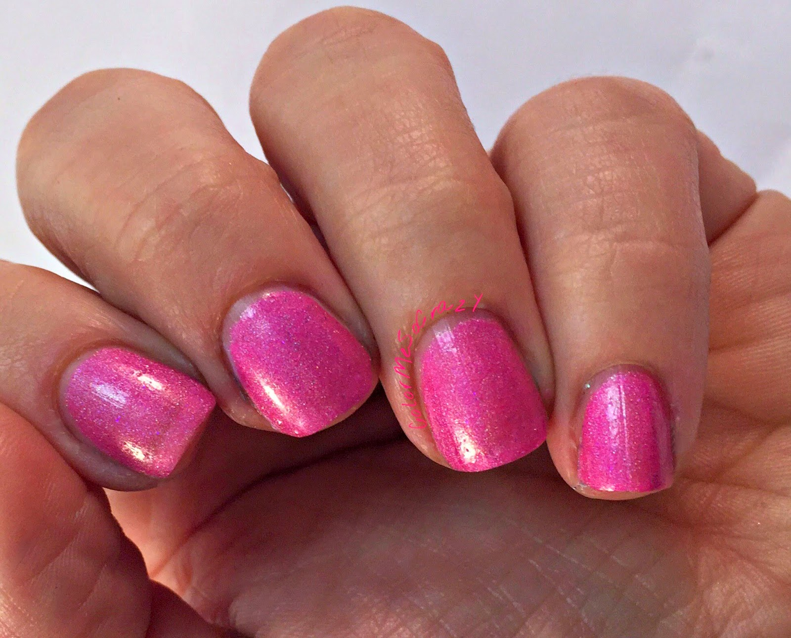 begl, blue eyed girl lacquer, nail polish, pink, spark in the dark, she's electricity, pink indie polish