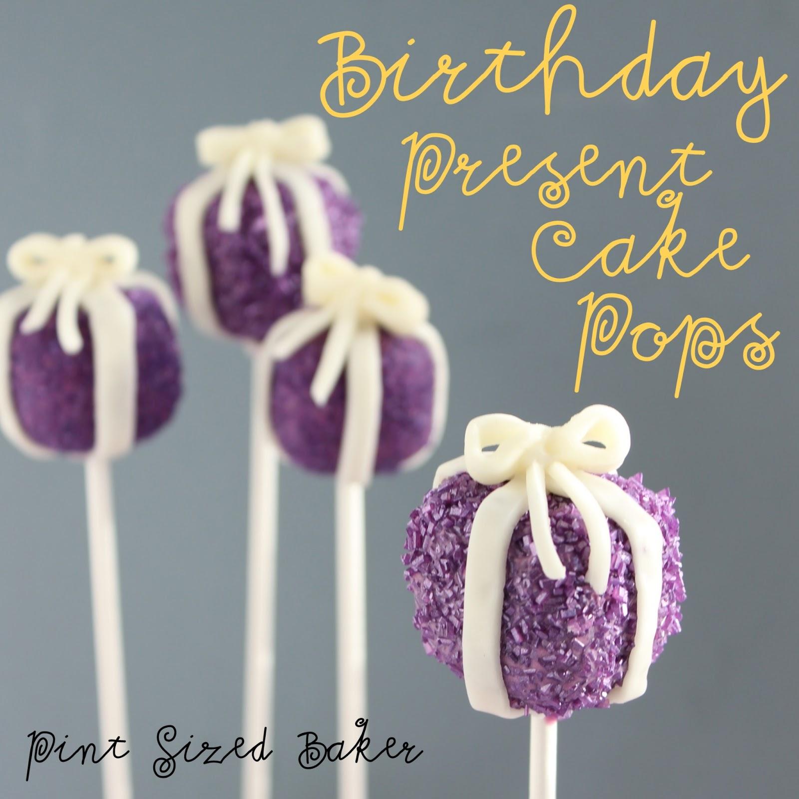 Birthday Present Cake Pops Pint Sized Baker