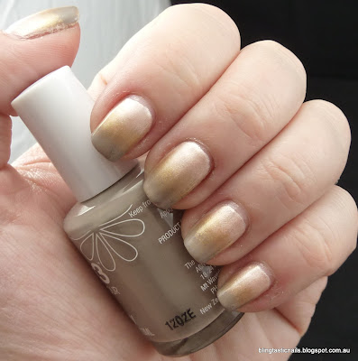 Beige, gold and taupe mani