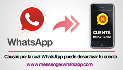 Causas por la cual WhatsApp puede desactivar tu cuenta