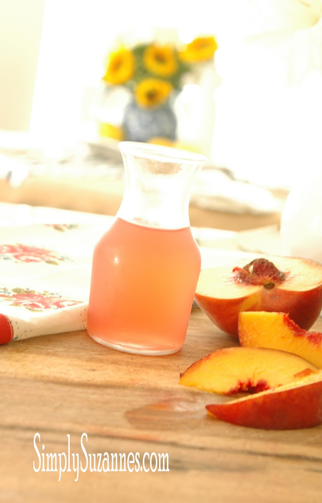 Simply suzanne 39 s at home peach simple syrup for Simply simple