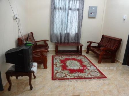 ruang tamu homestay murah di kelantan