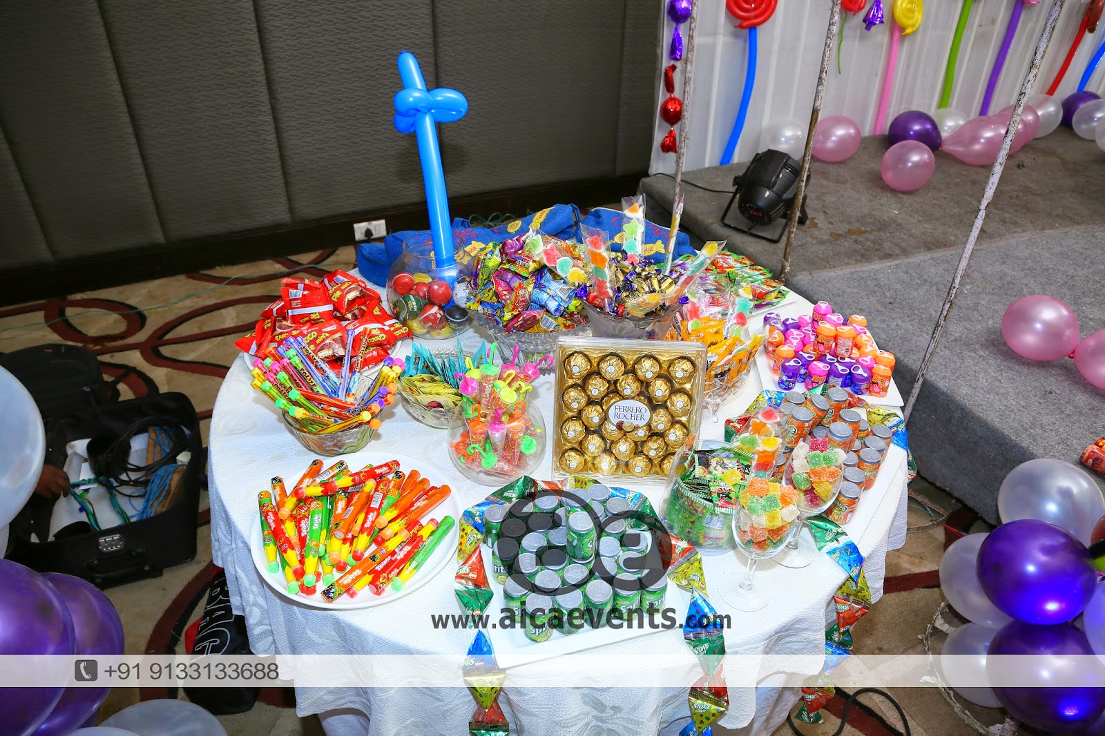Aicaevents india candy crush theme birthday party