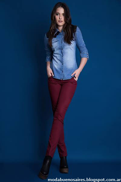 Camisas de jeans otoño invierno 2015 Estilo Ambar.