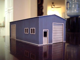Scratch built HO scale styrene garage