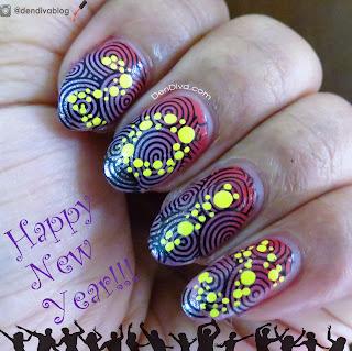 Año Nuevo, Diseño para Uñas
