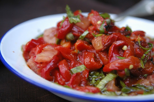 Italian red pepper salad