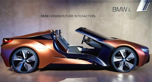 BMW、ルーフもドアも無い「i8スパイダー」のコンセプトカーを公開!