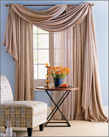 Living Room Interior Design With Curtains
