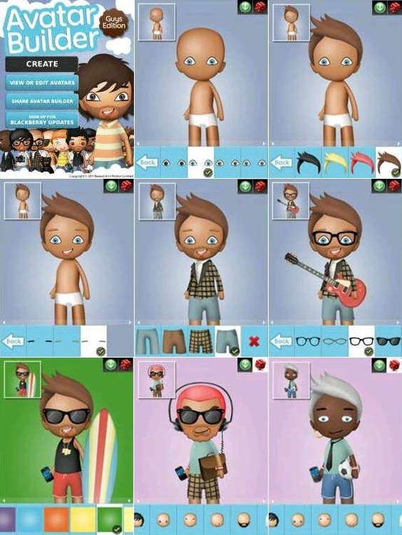 Cara Membuat Avatar BBM Animasi Blackberry Messenger Dengan Avatar