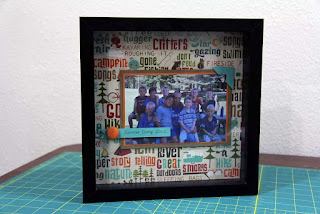 Shadow box frame to capture summer fun memories