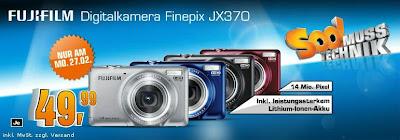 Digi-Cam Fujifilm FinePix JX370 am Montag bei Saturn für 49,99 Euro