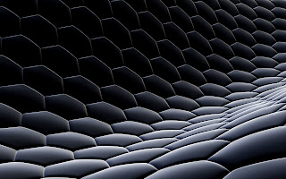 3D Hexagon Surface Abstract HD Wallpaper