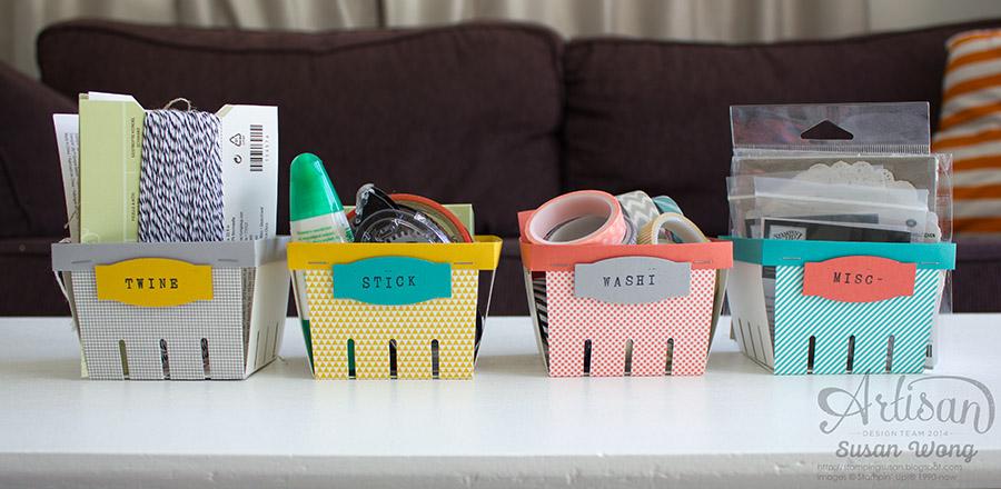 Birthday Bash Berry Basket Storage ~ Susan Wong