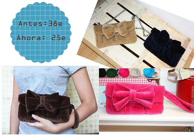Rebajas bolso terciopelo Living the crafts