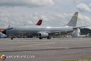 Avión de transporte Boeing 737-400F Atlas FAC1208 de la Fuerza Aérea Colombiana