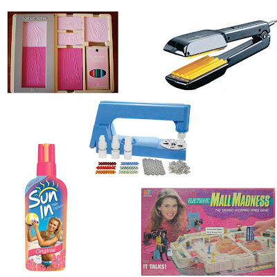 Throwback Thursday, #tbt, Fashion Plates, crimping iron, crimper, crimped hair, Sun-In, Mall Madness, bedazzler, top 5 beauty and fashion products I wish I had
