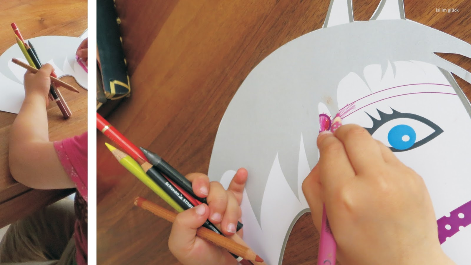 isi im glück: kindergeburtstag – pferdeparty / pferdegeburtstag, Einladung
