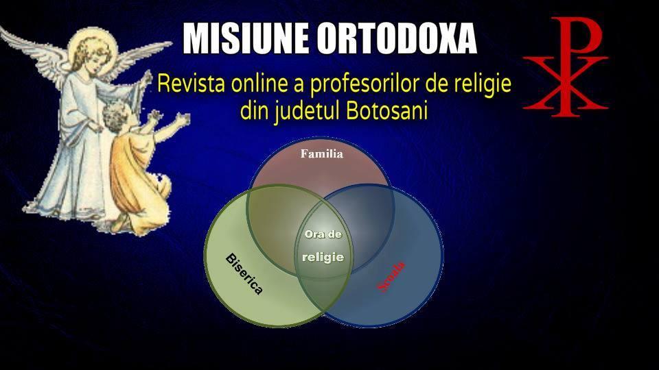 REVISTA PROFESORILOR DE RELIGIE DIN BOTOSANI
