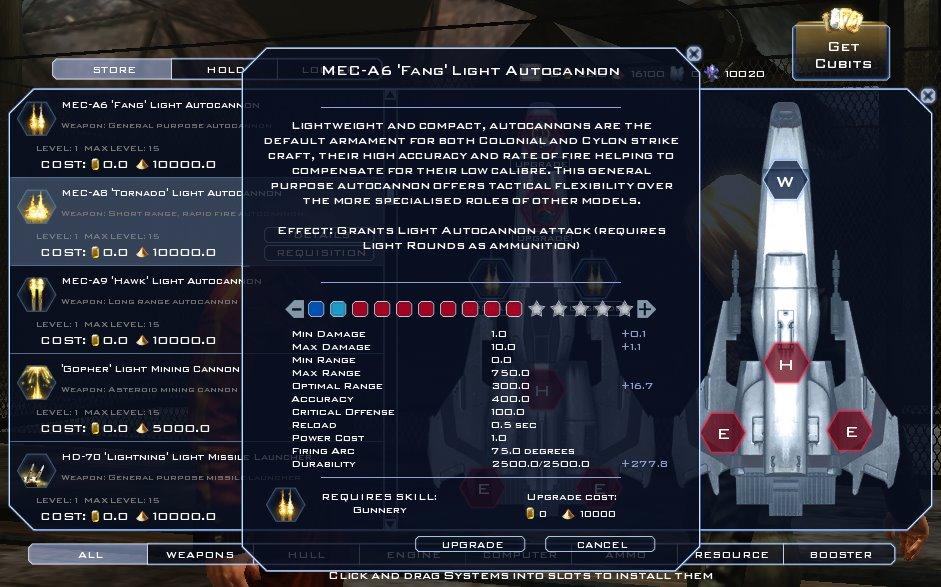 Battlestar Galactica Online - Upgrading Modules