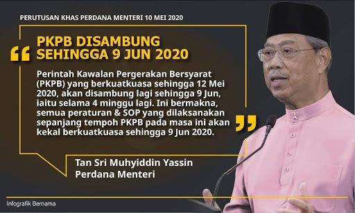 PKPB DILANJUTKAN SEHINGGA 9 JUN 2020.