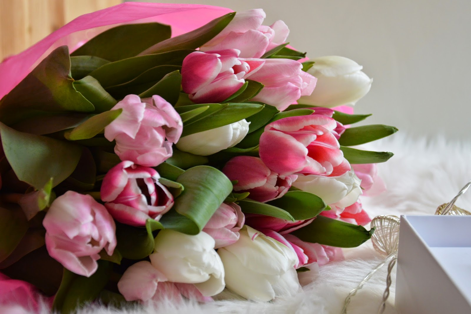 mothers day bouquet flowers florica tulips pink