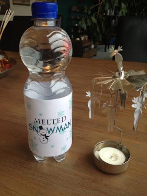 Flesje melted snowman & komkommerkerstboom
