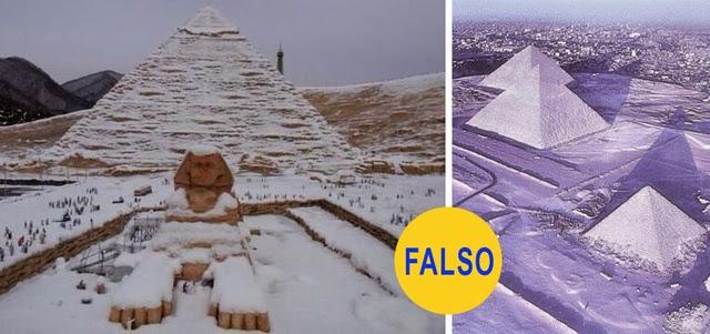 Las pirámides nevadas de Egipto