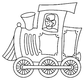 t5 Desenhos de Trenzinho para Imprimir