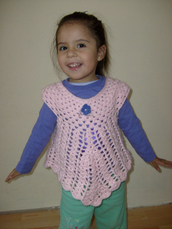 Como Tejer Un Chaleco a Crochet Para Nina
