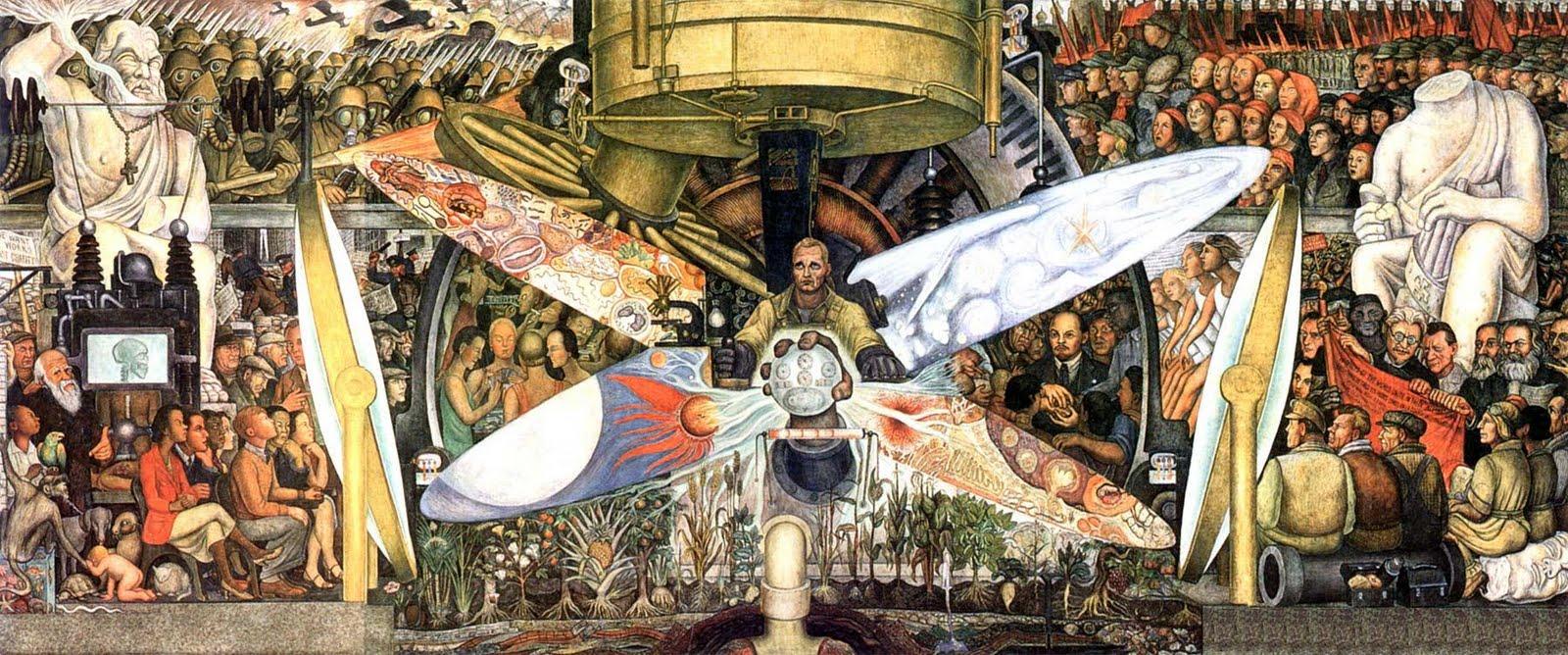 l'uomo controllore dell'universo di Diego Rivera