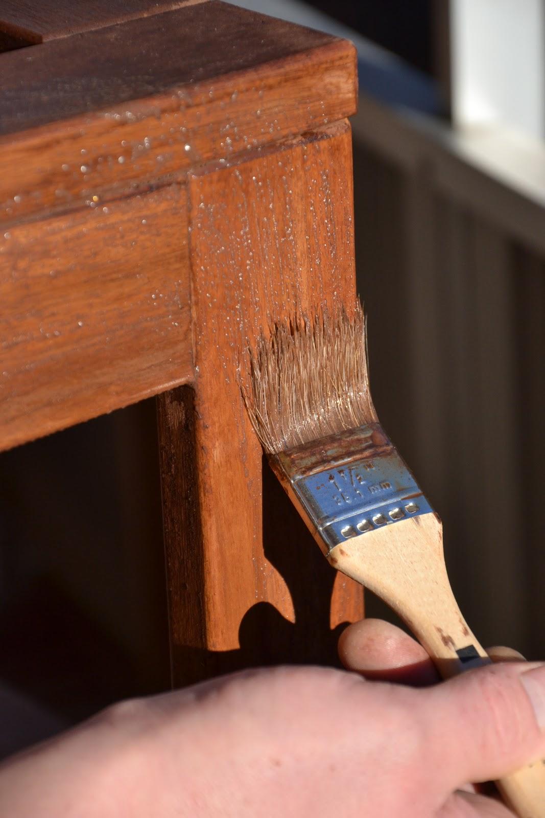 Inredning trall till balkong : Popetotrora: Trall och olja