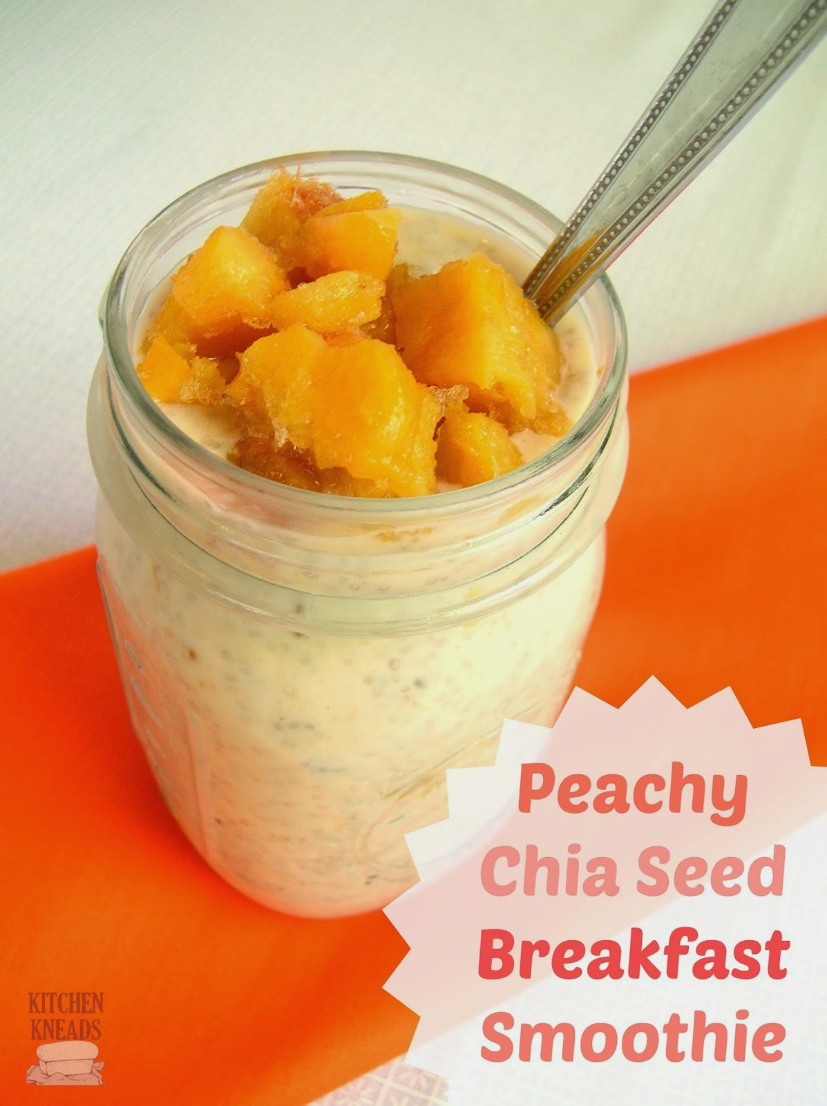 Peachy Chia Seed Breakfast Smoothie Kitchen Kneads